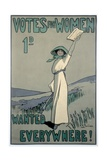 Votes for Women Wanted Everywhere Poster Giclee Print
