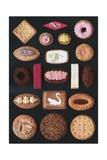 Variety of Traditional English Cookies Giclee Print