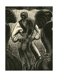 Couple Sensuously Dancing Giclee Print