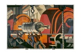 Making Electrical Machinery Giclee Print