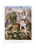 David Slaying Goliath Giclee Print