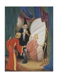Wizard Showing Girl Her Changed Reflection Giclee Print