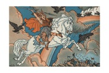 Valkyrie Flying to Valhalla Giclee Print