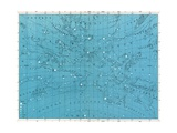 Vintage Illustration of a Star Map Giclee Print