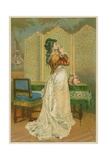 Woman Kissing Love Letter Giclee Print
