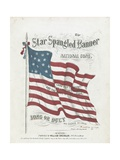 Cover of a Musical Score of the Star-Spangled Banner Giclée-Druck