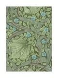 William Morris Wallpaper Sample with Forget-Me-Nots Reproduction procédé giclée