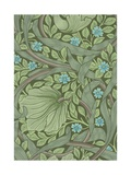 William Morris Wallpaper Sample with Forget-Me-Nots Giclee Print