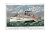 The Grand New Steamboat Pilgrim, the Largest in the World Giclee Print