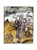 Ptolemy Observing Moon and Stars with Urania Giclee Print