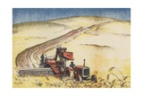 Wheat Harvest Giclee Print