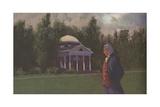 Thomas Jefferson at Monticello Giclee Print