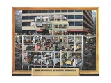 Vintage 1950s Cutaway View of How an Office Building Works Giclee Print