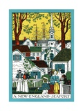 Early New England Seaport Giclee Print