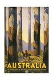 Vintage Travel Poster for Australia Giclee Print
