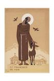 St. Francisco De Asis Reproduction procédé giclée