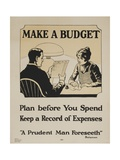 Ymca Make a Budget Poster Giclee Print