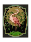 Czech English Cotton Label with Pink Ibis Giclee Print