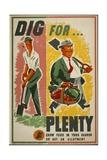 Dig for Plenty Poster Giclee Print