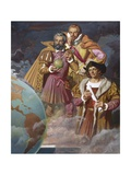Christopher Columbus, Ferdinand Magellan and Vasco De Gama Giclee Print