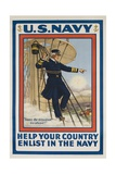 US Navy Recruiting Poster Giclee Print