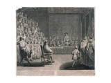 Trial of King Charles I Giclee Print