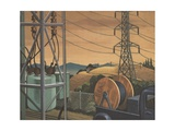 Electricity in Rural America Giclee Print
