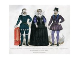 Portrait of Antoine De Saint-Chamand, an Unknown Lady and Henry Iv of France Giclee Print