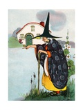 Witch Casting a Spell Giclee Print