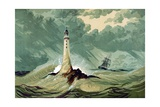 Eddystone Lighthouse Giclee Print