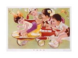 Four Children Racing Giclee Print