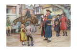 Town Crier Reading the News Giclee Print