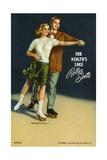 For Health's Sake, Roller Skate Postcard Giclee Print
