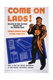 Come on Lads! Poster Giclee Print