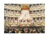 State Visit to Royal Italian Opera, Now the Royal Opera House, Covent Garden, London Giclee Print