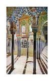 Court of the Lions at the Alhambra Digitálně vytištěná reprodukce