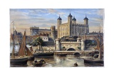 Tower of London from the Thames Giclee Print