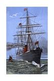 Cunard Steamship Giclée-Druck