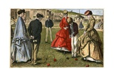 Croquet Game Giclee Print