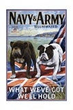 Navy and Army Illustrated Cover Giclee Print
