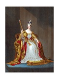 Queen Victoria on Her Throne Giclee Print
