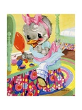 Goosey Goosey Gander Illustration Giclee Print