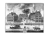 Early 18th-Century View of Harvard College Giclee Print