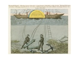 Divers Salvaging Guns from Seabed Giclee Print