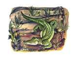 Crocodile in its Natural Habitat Giclee Print