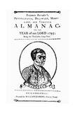 Title Page to Benjamin Banneker's Almanac Giclee Print