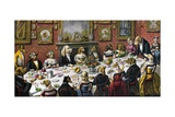 Dinner Party for Dogs Giclee Print
