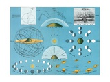Diagram of Basic Concepts of Astronomy Giclee Print