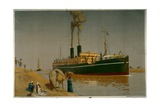 Suez Canal Poster Giclee Print