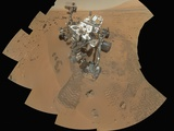 Curiosity Rover at Rocknest Site Photographic Print